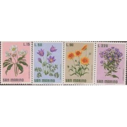 E) 1971 SAN MARINO, FLOWERS SET, MNH