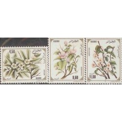 E) 1993 ALGERIE, FLOWERS SET, MNH