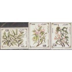 E) 1993 ALGERIE, FLOWERS SET, MNH