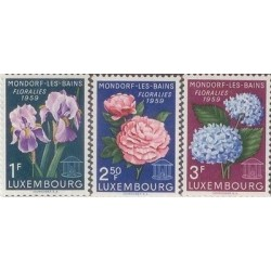 E) 1959 LUXEMBORG, FLOWERS, MONDORF-LES-BAINS