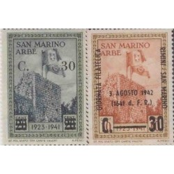 E) 1942 SAN MARINO ARBE, CASTLE