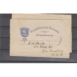 O) 1900 PANAMA ( CIRCA), COAT OF ARMS, REPUBLIC OF PANAMA PRESIDENCIA., POSTAL S
