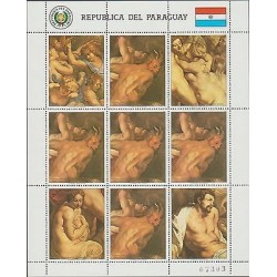 O) 1987 PARAGUAY, NAKED, RELIGION, PAINTING PETER PAUL RUBENS -PAUWEL, BAROQUE,