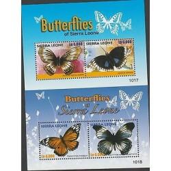 O) 2010 SIERRA LEONE, BUTTERFLIES, SOUVENIR FOR 2, ,MNH