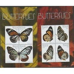 O) 2011 ST. VINCENT AND GRENADINES - BEQUIA, BUTTERFLIES, SOUVENIR FOR 2 MNH
