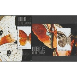 O) 2011 ST. VINCENT AND GRENADINES - CANOUAN, BUTTERFLIES, SOUVENIR FOR 2, MNH