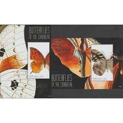 O) 2011 ST. VINCENT AND GRENADINES - CANOUAN, BUTTERFLIES, SOUVENIR FOR 2, MNH
