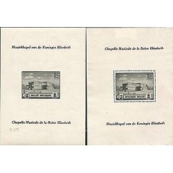 E)1942 BELGIUM, QUEEN MUSIC ELISABETH CHAPEL ,ARCHITECTURE, PERFORATED AND IMPE