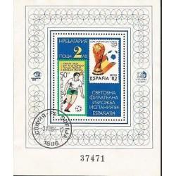 E)1984 BULGARIA, FIFA WORLD CUP SPAIN 82, REGISTERED, SOUVENIR SHEET, MNH