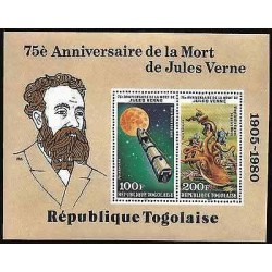E)1980 TOGO, JULES VERNE 1905-1908, ROCKET AND MOON FROM EARTH TO MOON-OCTOPUS,