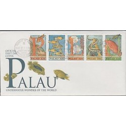 o) 1996 PALAU, FISH, UNDERWATER WONDER OF THE WORLD, FDC XF