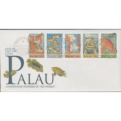 o) 1996 PALAU, FISH, UNDERWATER WONDER OF THE WORLD, FDC XF