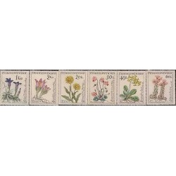 E) 1960 CZECHOSLOVAKIA, FLOWERS SET, MNH