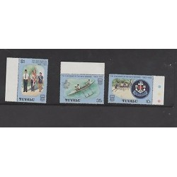 O) 1983 TUVALU, CENTENARY OF THE BOYS BRIGADE, SET MNH