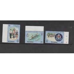 O) 1983 TUVALU, CENTENARY OF THE BOYS BRIGADE, SET MNH