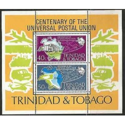 B)1974 TRINIDAD & TOBAGO, CENTENARY, ISLAND, AIRPLANE, BOAT, CENTENARY OF THE