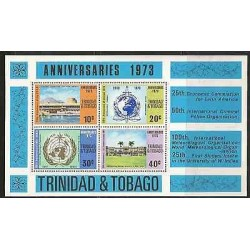 B)1973 TRINIDAD & TOBAGO ANNIVERSARIES, WORLD, BUILDING, INTERNATIONAL METEOROLO