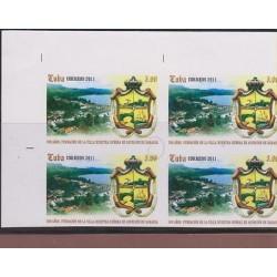 B) 2011 CARIBBEAN, PROOF B/4, ISLAND, SHIELD, 5OO ANNIVERSARY BARACOA TOWN,