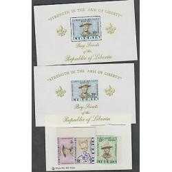 O) 1961 LIBERIA, BOY SCOUTS, CAMP, VALUES, SOUVENIR, ST MNH