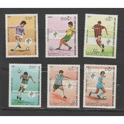 O) 1990 LAOS, WORLS CUP FOOTBALL, SET MNH