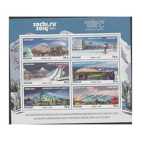 O) 2013 RUSSIA, XXII OLYMPIC WINTER GAMES AND XI PARALYMPIC WINTER GAMES 2014 IN