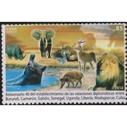 0)2014 CARIBE, HIPPO-RHINO-GAZELLE-LION, WILD ANIMALS, 40TH ANNIVERSARY OF DIPLO