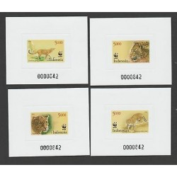 O) 2014 INDONESIA, PROOF, WWF, PANTHER - PARDUS MELAS, SET XF