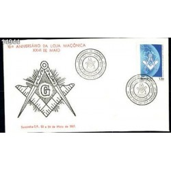 O)1987 BRAZIL,FDC,10TH ANNIV, OF FOUNDATION OF MASON LODGE OF MAIO, MASONIC EMB
