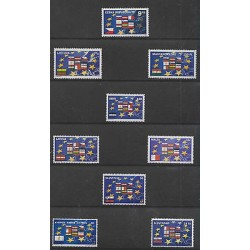 O) 2004 CZECH REPUBLIC- EUROPA,FLAGS OF EUROPEAN COUNTRIES, JOINT ISSUE MANY EUR