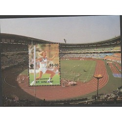 O) 1988 ST VINCENT, OLYMPIC GAMES, SEOUL-SOUTH KOREA, HIGH JUMP, SOUVENIR MNH