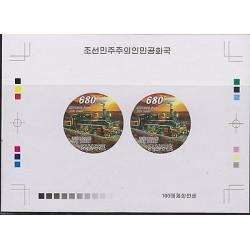 O) 2008 KOREA, PROOF, STEAM TRAIN, RUSSIA 1910, X