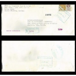 B) 1996 MEXICO, MEXICO EXPORTA BEES, CERTIFIED MAIL, REGISTERED CIRCULATED COVER