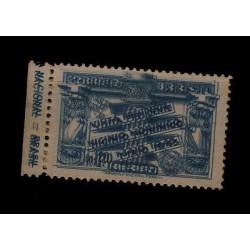 E) 1943 BRAZIL, ERROR DOUBLE IMPRESSION VICTORIA MNH