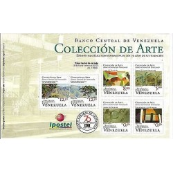 E) 2010 VENEZUELA.CENTRAL BANK OF VENEZUELA, ART COLLECTION, SOUVENIR SHEET, MNH
