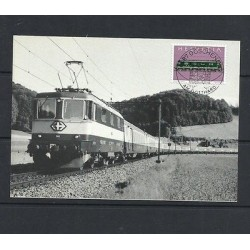 O) 1987 SWITZERLAND, LOCOMOTIVE, MAXIMUM CARD, XF