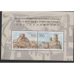 O) 1996 SAN MARINO, JOINT ISSUE SAN MARINO-CHINA, CHINESE WALLS, TIAN LI MING, S