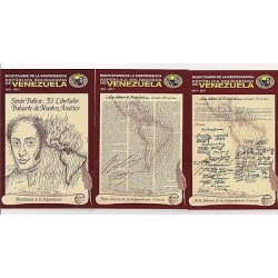 E) 2011 VENEZUELA, BICENTENNIAL OF INDEPENDENCE, SIMÓN BOLÍVAR, POSTCARD SET