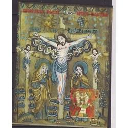 O) 2015 ROMANIA, EASTER, JESUS CRUCIFIED, MNH