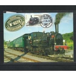 O) 2005 LUXEMBOURG, LOCOMOTIVE OF 1900, MAXIMUM CARD XF