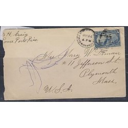 O) 1899 PUERTO RICO, MILITARY STATION WITH 5 CENTS - FREMONT ON ROCKY MOUNTAINS,