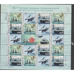 RO) 2014 INDONESIA, WARSHIPS, BLOCK MNH