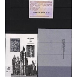 G)2012 SPAIN, LEON'S CATHEDRAL, S/S WITH SILVER 925 STAMP, WITH FOLDER AND FDB,