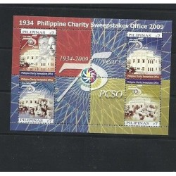 O) 2009 PHILIPPINES, CHARITY SWEEPSTAKES OFFICE 1934- PCSO, ARCHITECTURE, SOUVEN