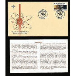 G)1977 SOUTH ARFRICA, NUCLEAR POWER PLANT AND URANIUM ATOM, FDC, WITH TECHNICAL