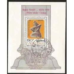 B)1987 VIETNAM, SCULPTURE, FLUTE, CHAM ARCHITECTURE AND SCULPTURES, DANCERS PLA