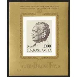B)1972 YUGOSLAVIA, MILITAR MARISCAL, JOSIP BROZ TITO, COMMUNISM, 80TH ANNIVE