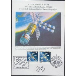 O) 1991 AUSTRIA, ASTRONOMY, SATELLITE MIR, MAXIMUM CARD XF