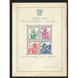 B)1937 YUGOSLAVIA, WOMEN, TRADITION, NATIONAL COSTUMES, B/4, SOUVENIR SHEETS,
