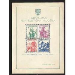 B)1937 YUGOSLAVIA, WOMEN, TRADITION, NATIONAL COSTUMES, B/4, SOUVENIR SHEETS,