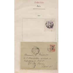 O) 1907 INDOCHINE -FRANCAISE, ASIA, GIRL ANNAMITE - ANNAMITA, OBLITERE, COVER TO